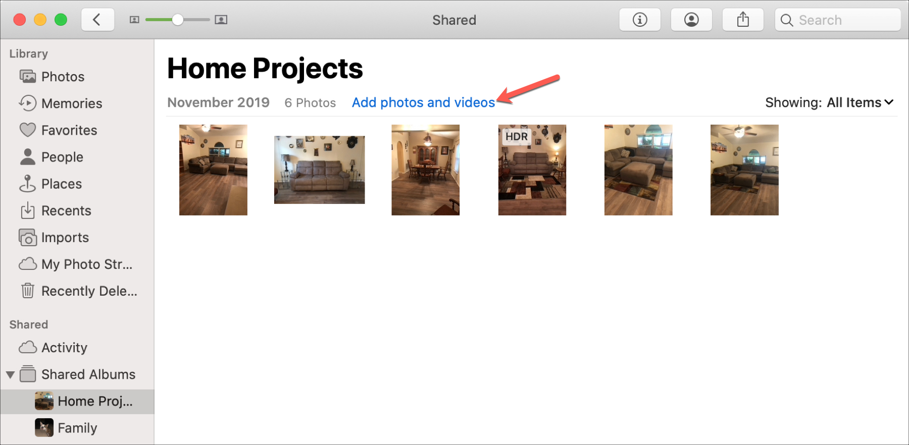 Shared Albums Mac Add Photos and Videos