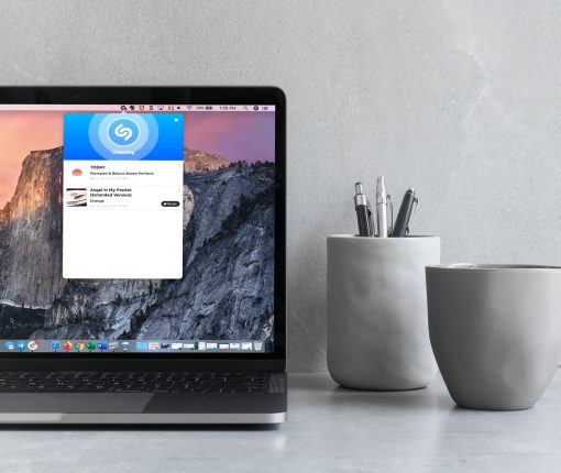 Shazam in Menu Bar on MacBook