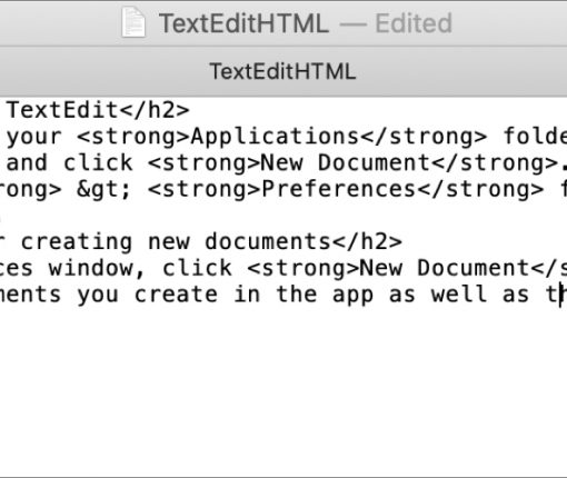 TextEdit HTML File