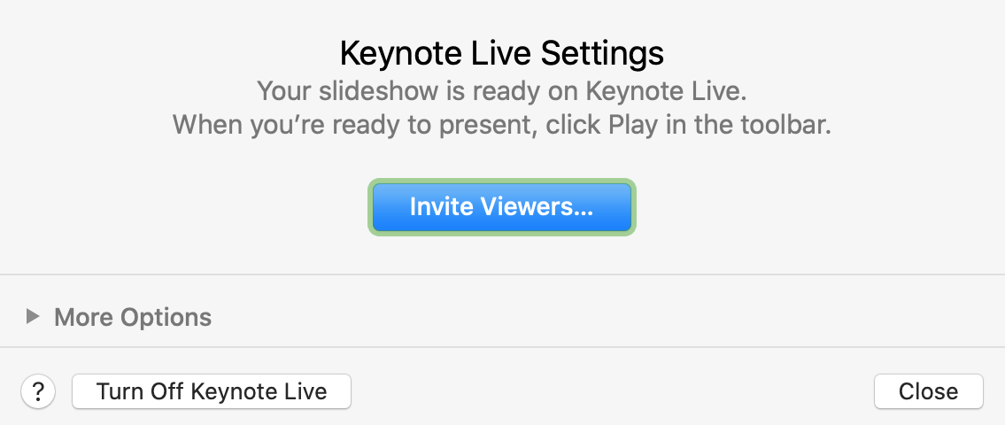 Turn Off Keynote Live Mac
