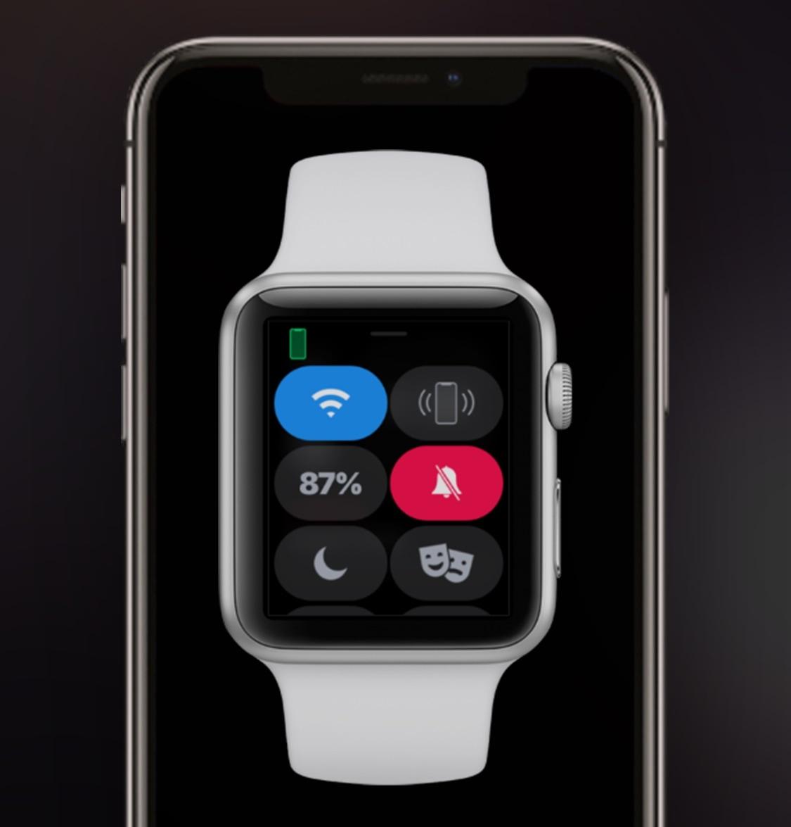 Tämä nipistys heijastaa iPhonen hiljaisen tilan tilaa Apple Watch