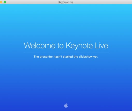 Welcome to Keynote Live Mac