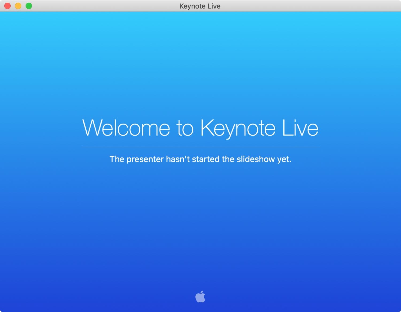 Welcome to Keynote Live Mac