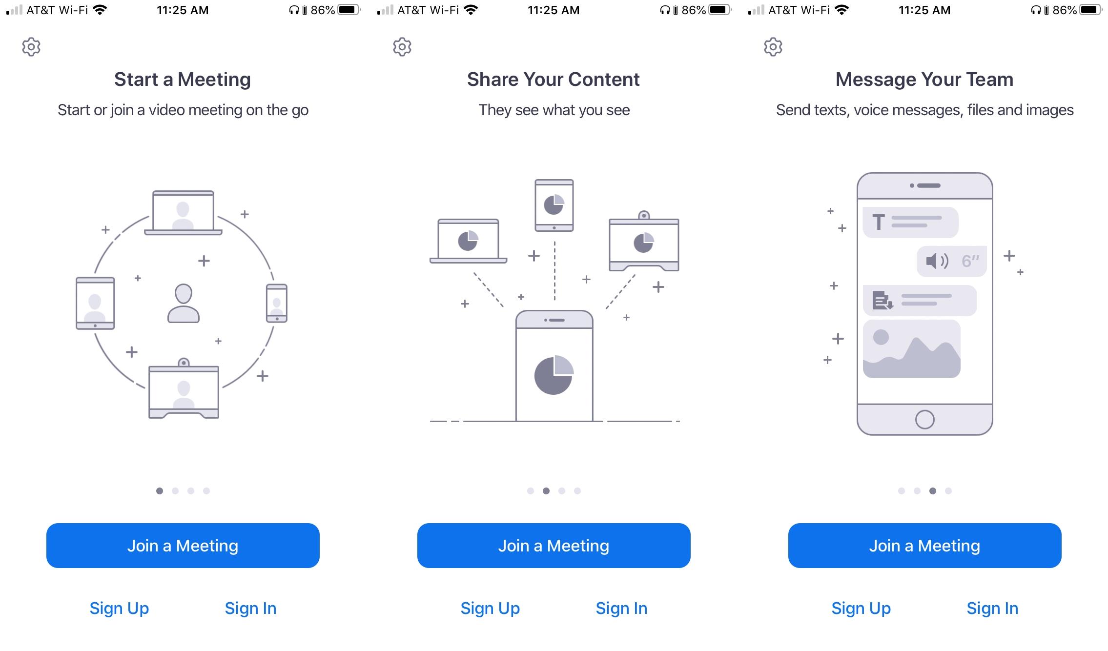 Zoom Meetings en iPhone