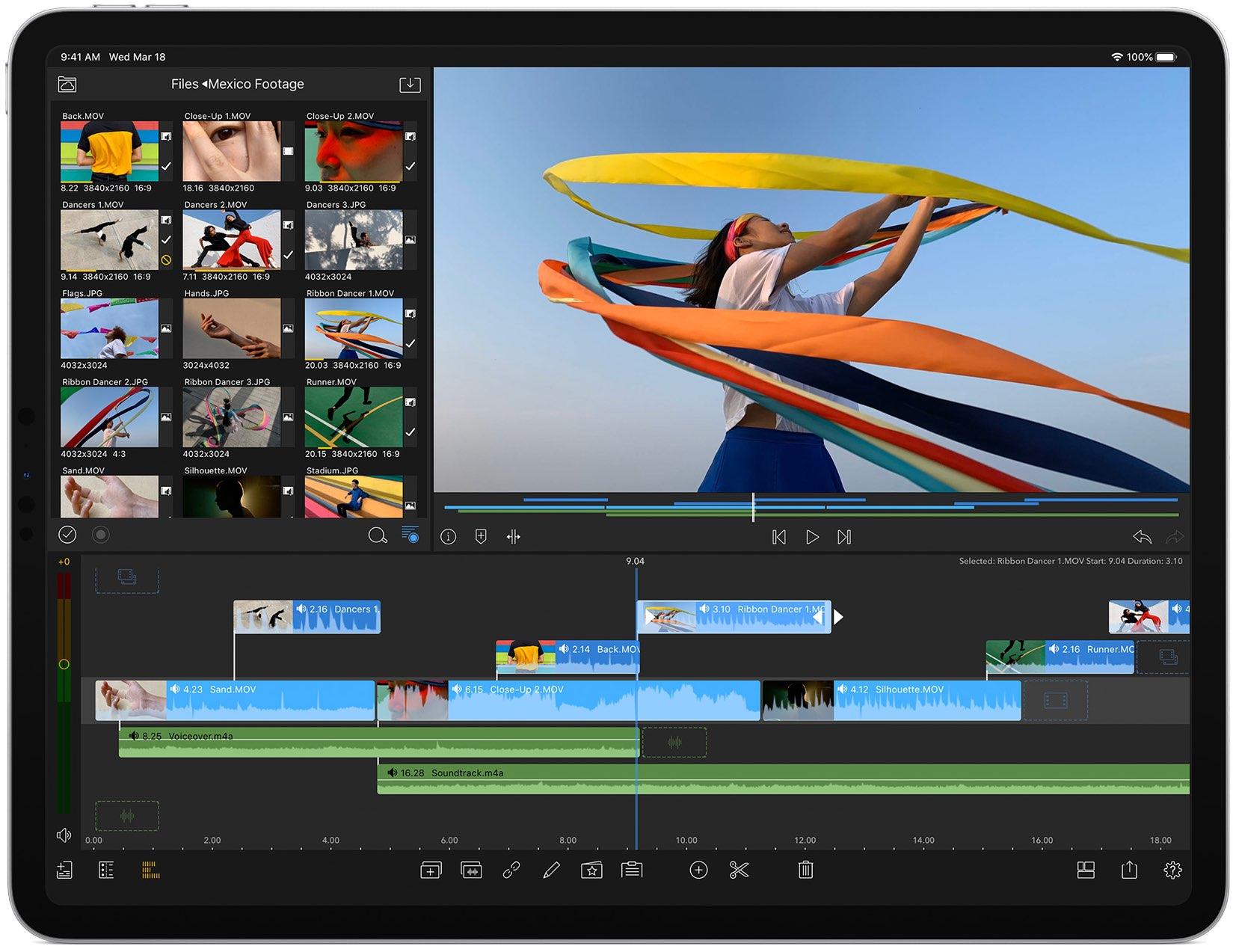 iPad trackpad gestures - editing video on iPad