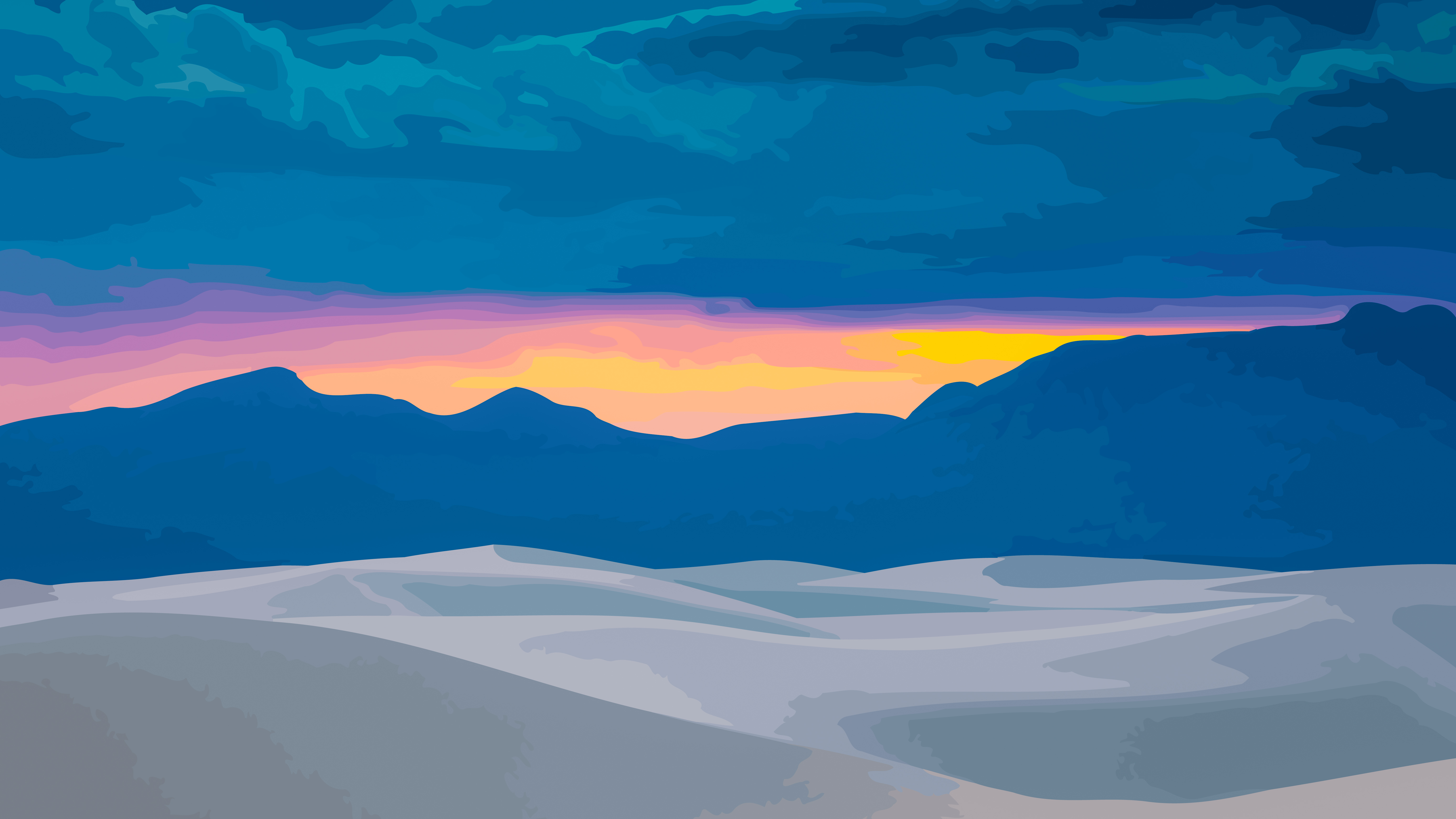 vector landscape wallpaper by WALLSBYJFL idownloadblog color sunset desktop