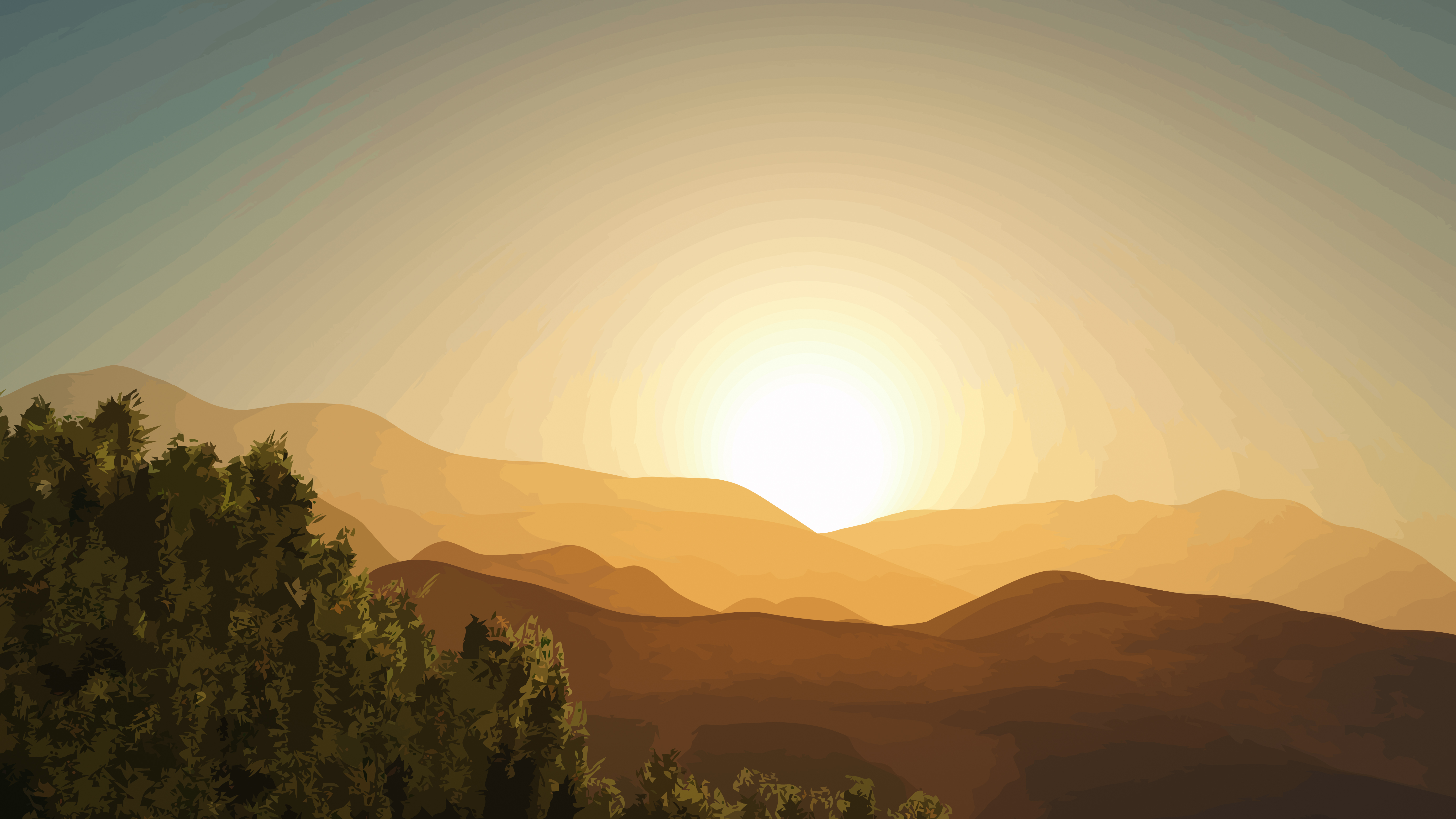 vector landscape wallpaper by WALLSBYJFL idownloadblog forrest sunset desktop