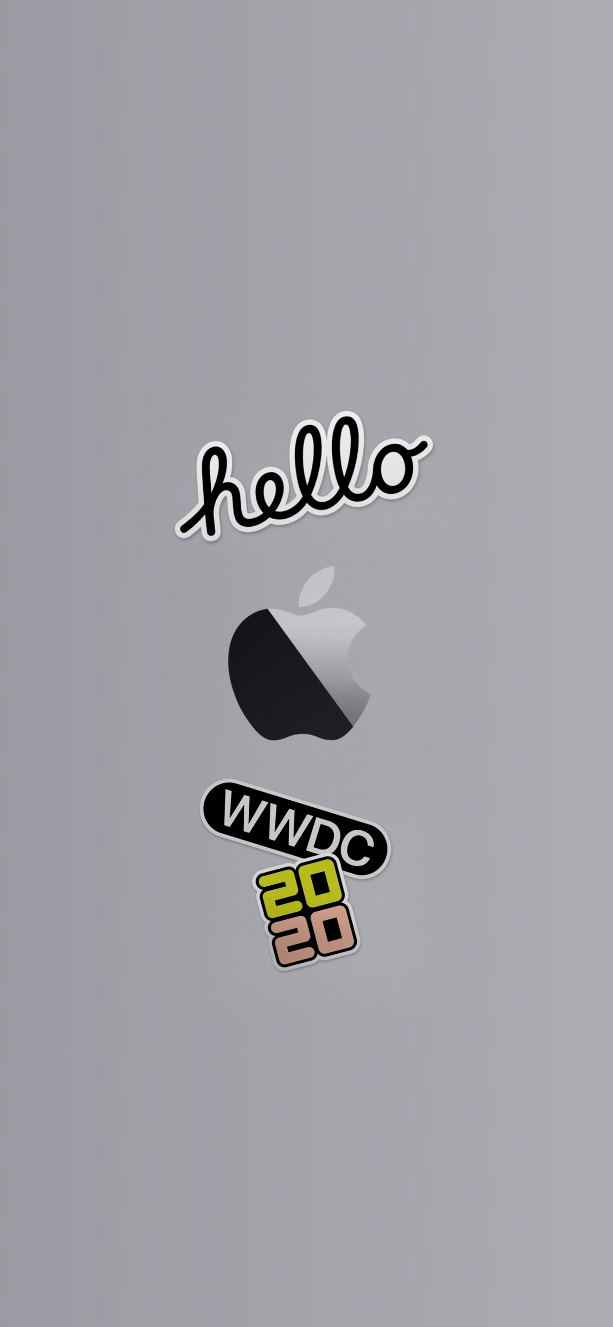 wwdc 2020 wallpaper iphone ar72014 idownloadblog Logos invite gray