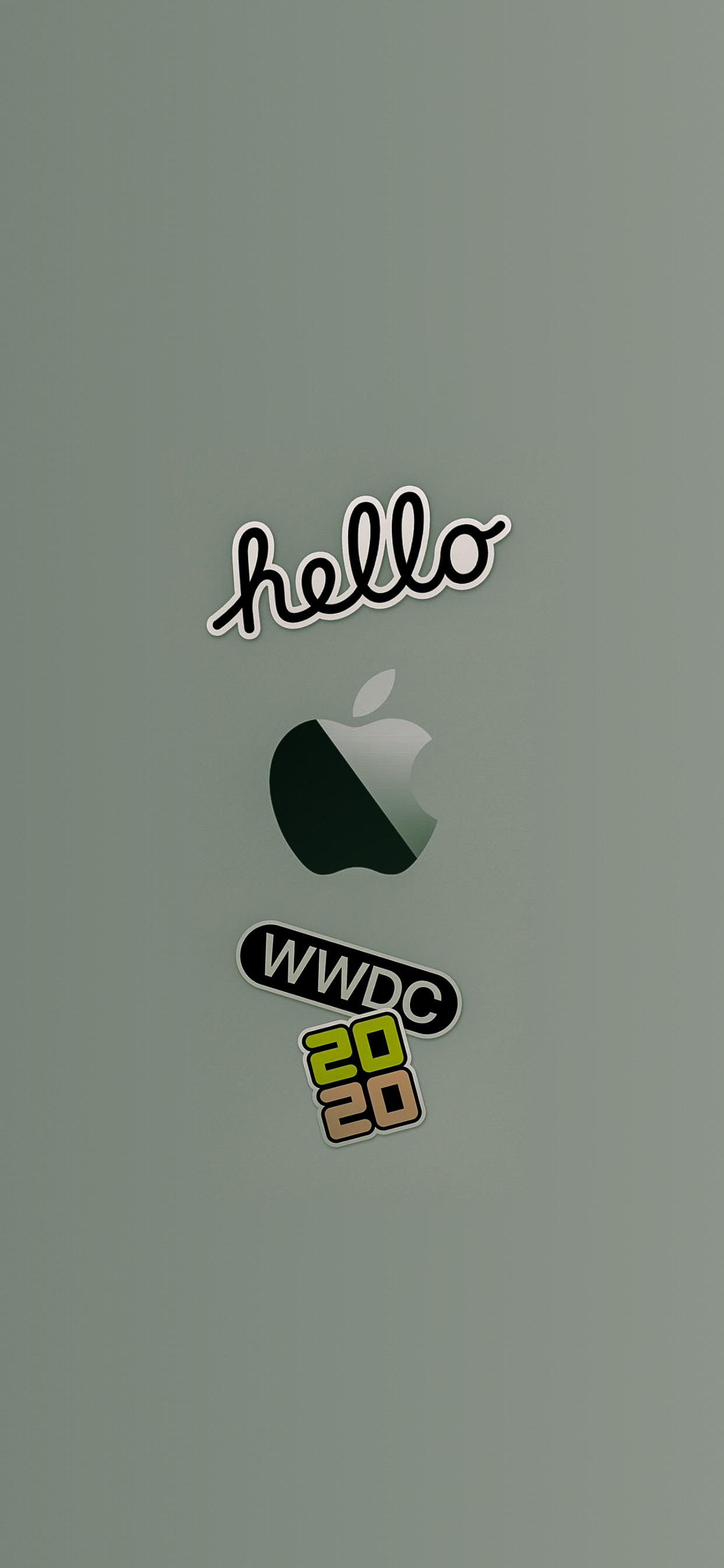 wwdc 2020 wallpaper iphone ar72014 idownloadblog Logos midnight green
