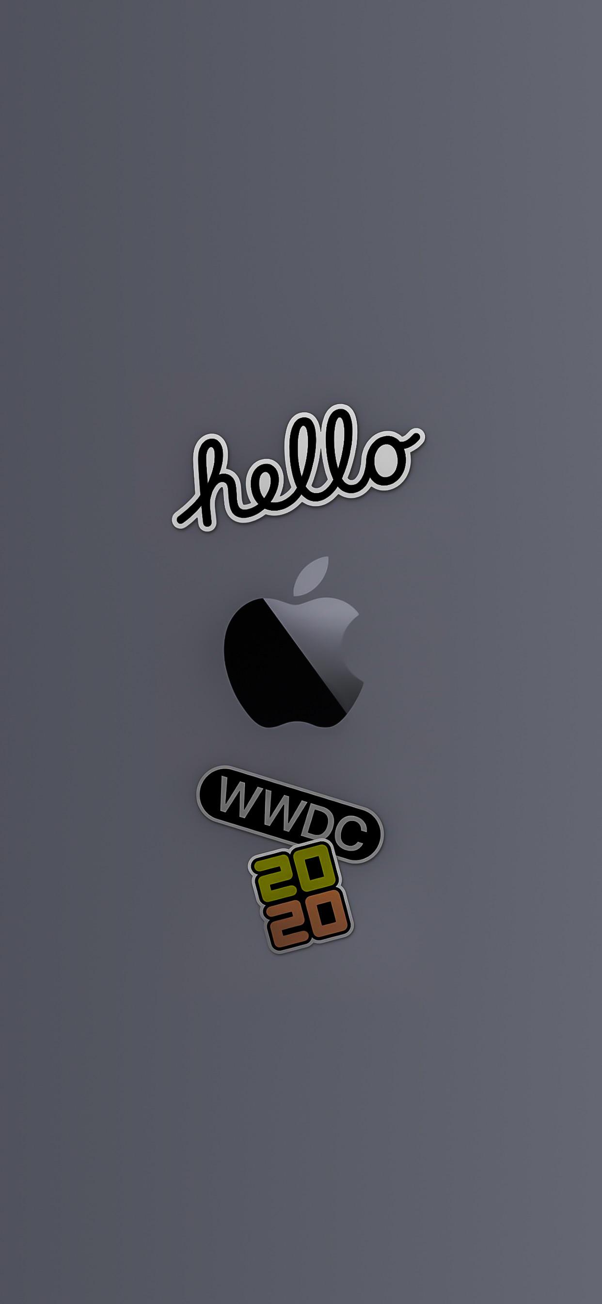 wwdc 2020 wallpaper iphone ar72014 idownloadblog apple logo space gray