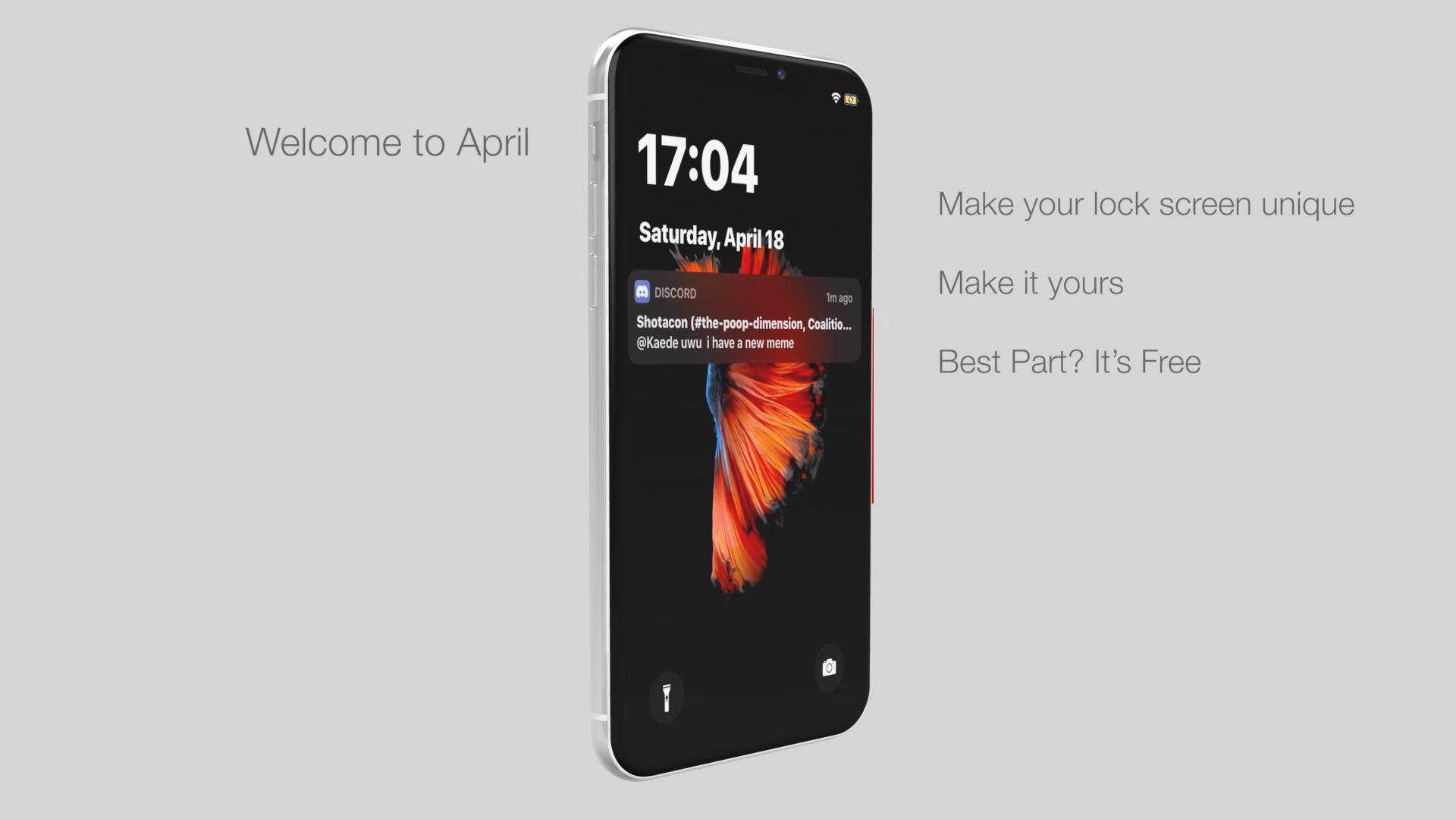 Apríl predstavuje novú úroveň prispôsobenia uzamknutej obrazovky pre jailbroken iPhone