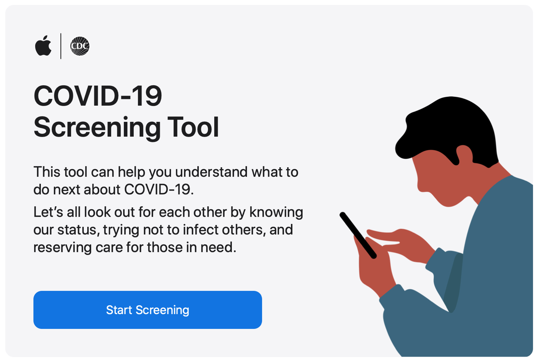 Apple COVID-19 Screening Tool Web
