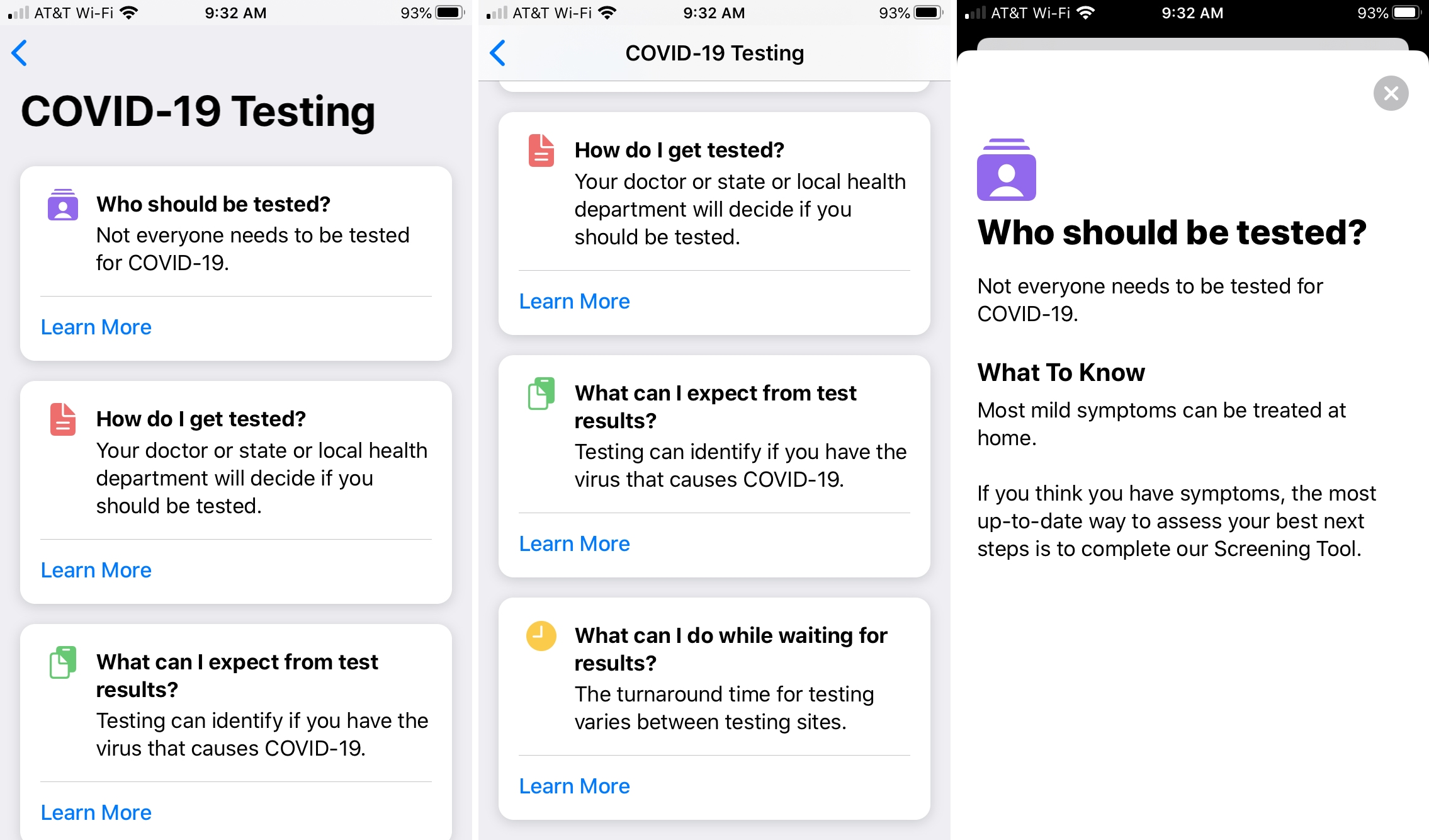 Apple COVID-19 iPhone App Testing