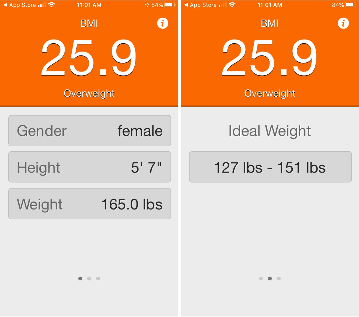 BMI Calculator for Women Men iPhone