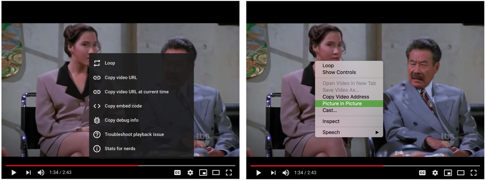 Chrome Click Picture in Picture