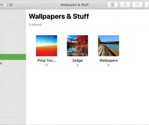 Created Folder in Photos Mac