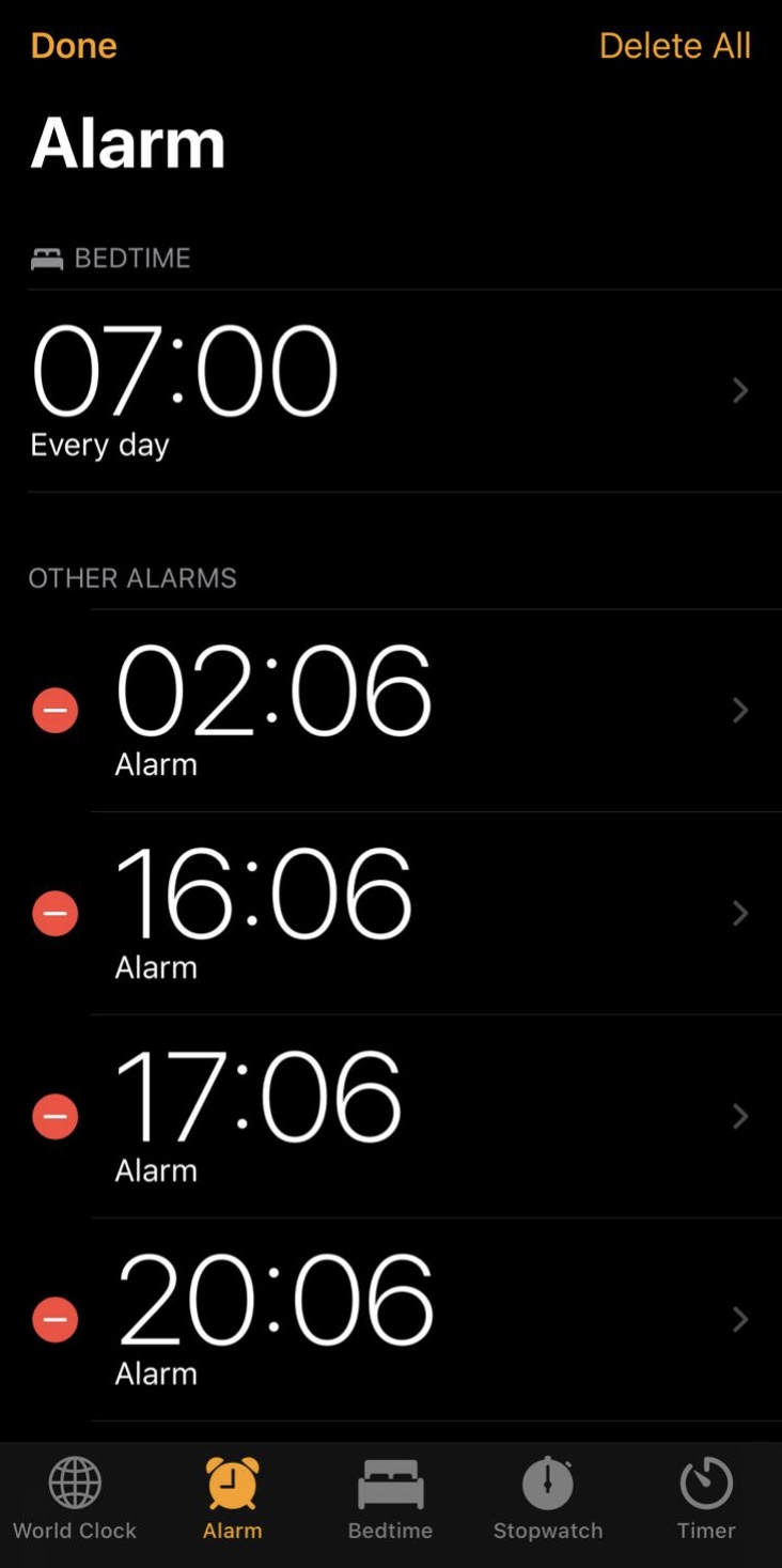 Delete All Iphone Alarms In One Fell Swoop