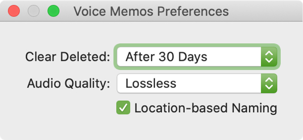 Enable Voice Memos Location Names Mac