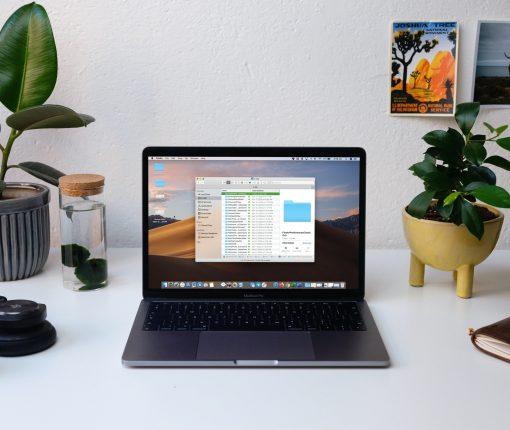 Finder Open on MacBook Screen
