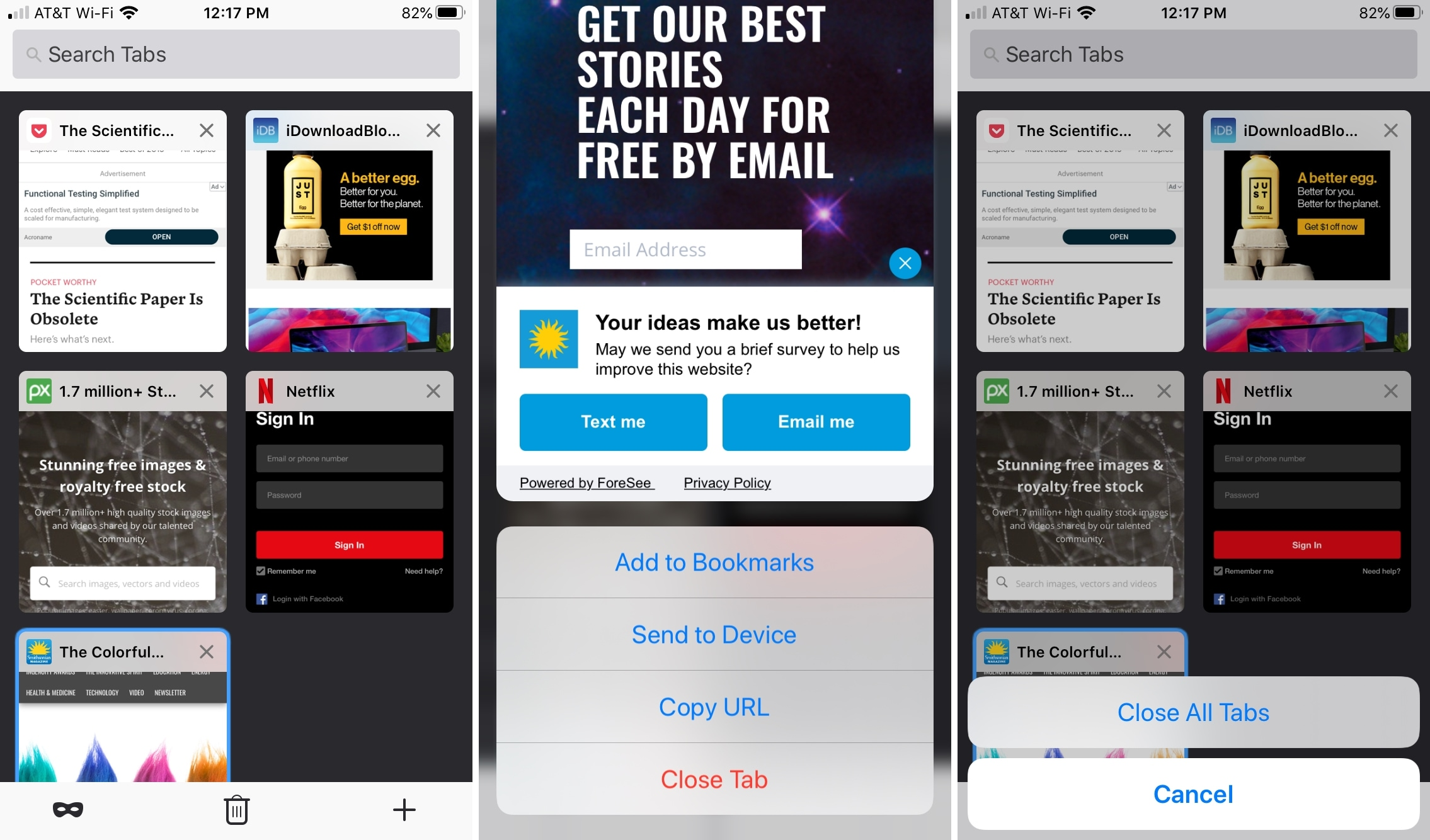 Firefox Organize Tabs iPhone