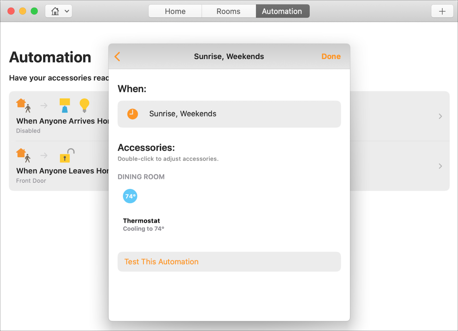 Home Automation Certain Days Mac