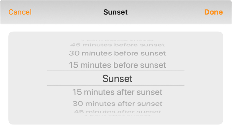 Home Automation Sunset Times Mac