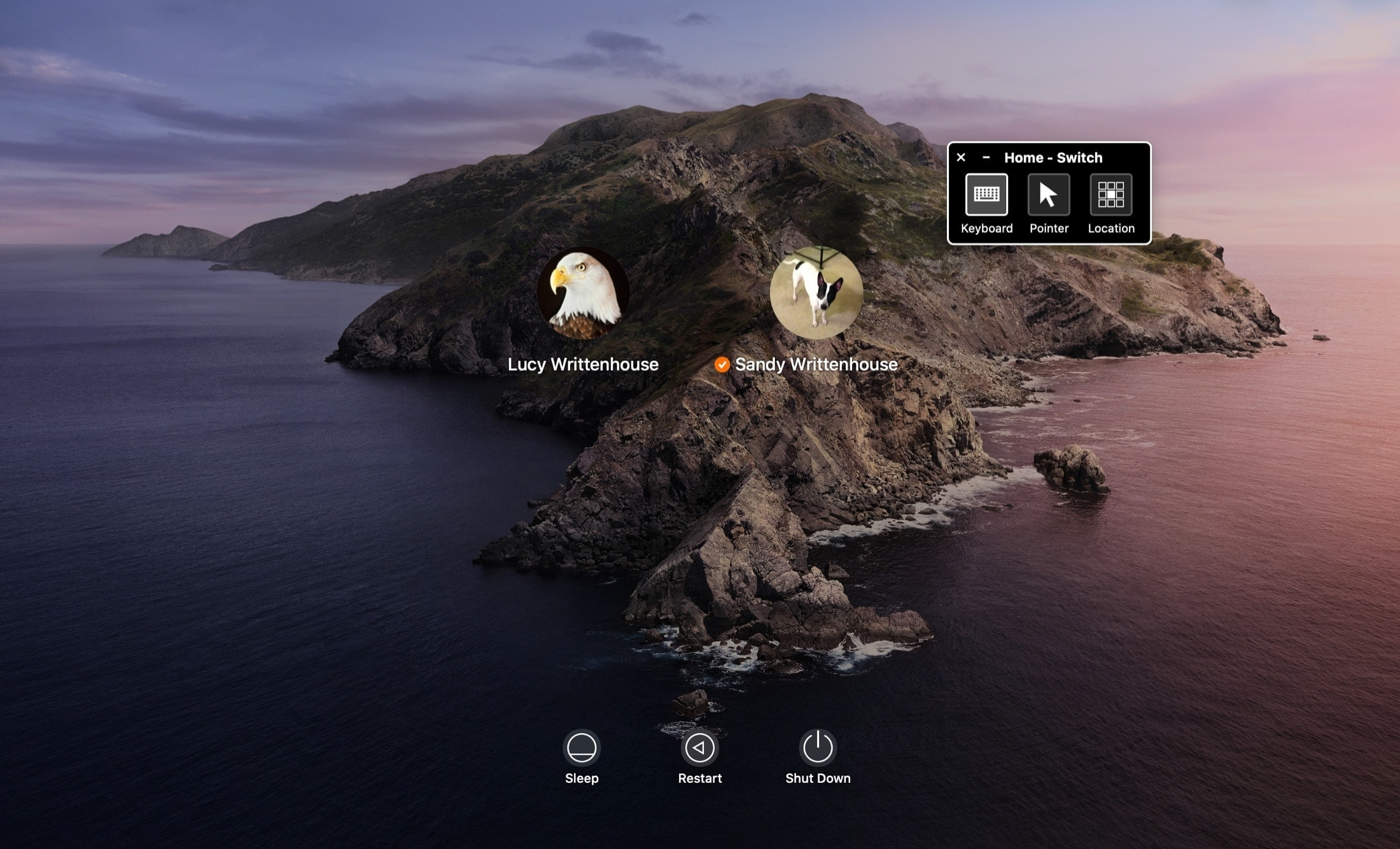 Mac Accessibility Switch Control Login Screen