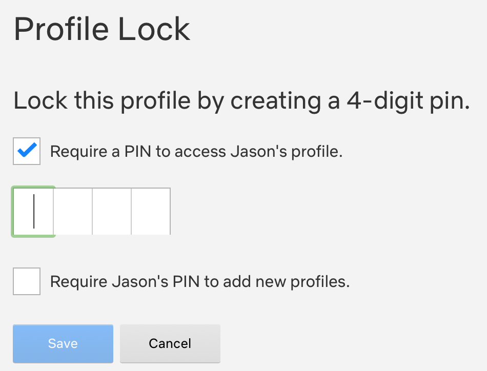 Netflix Create Profile PIN