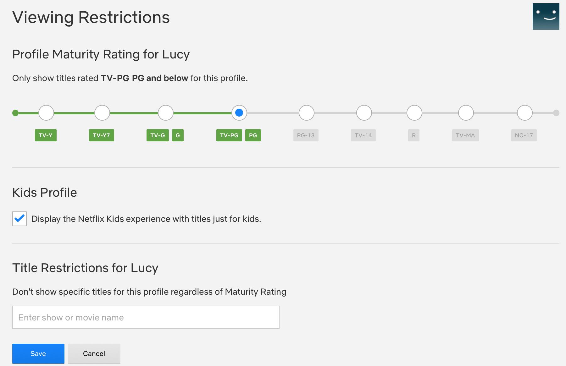 Netflix Kids Viewing Restrictions Web