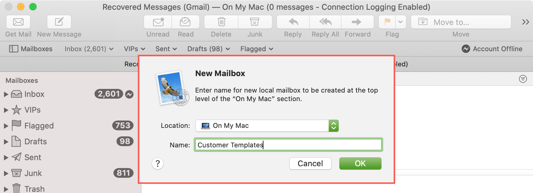 New Template Mailbox Mac Mail