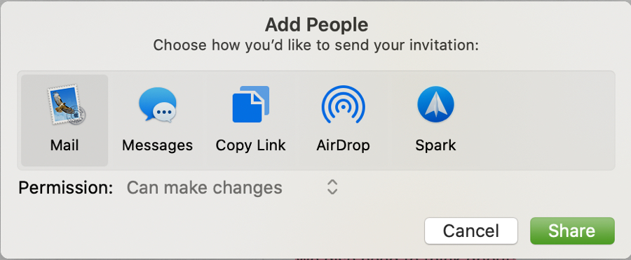 Notes Add People Can Make Changes Mac