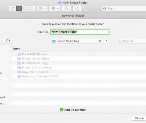 Save New Smart Folder Mac