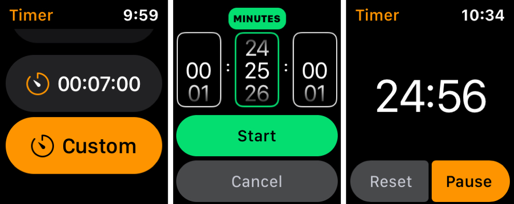 Set Pomodoro Technnique Timer on Apple Watch