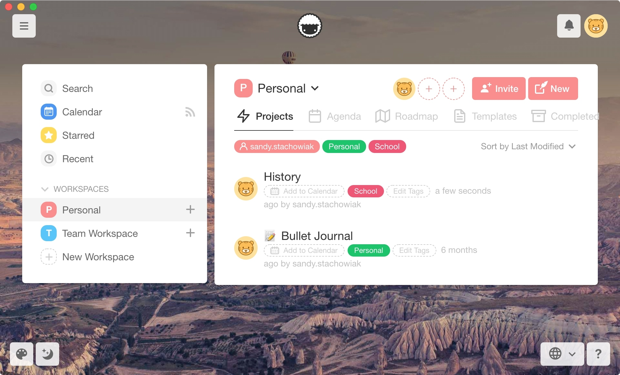 Taskade Mac Manage Projects