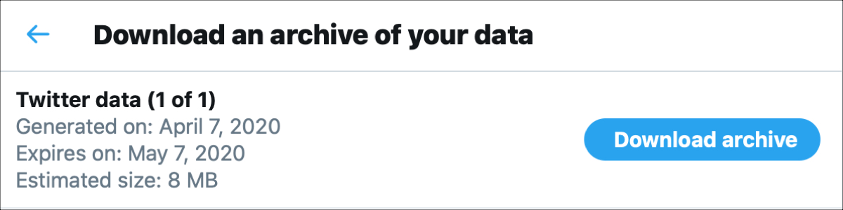 Twitter Download Archive