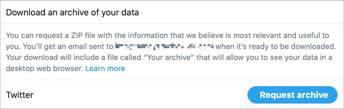 Archivo de solicitud de Twitter