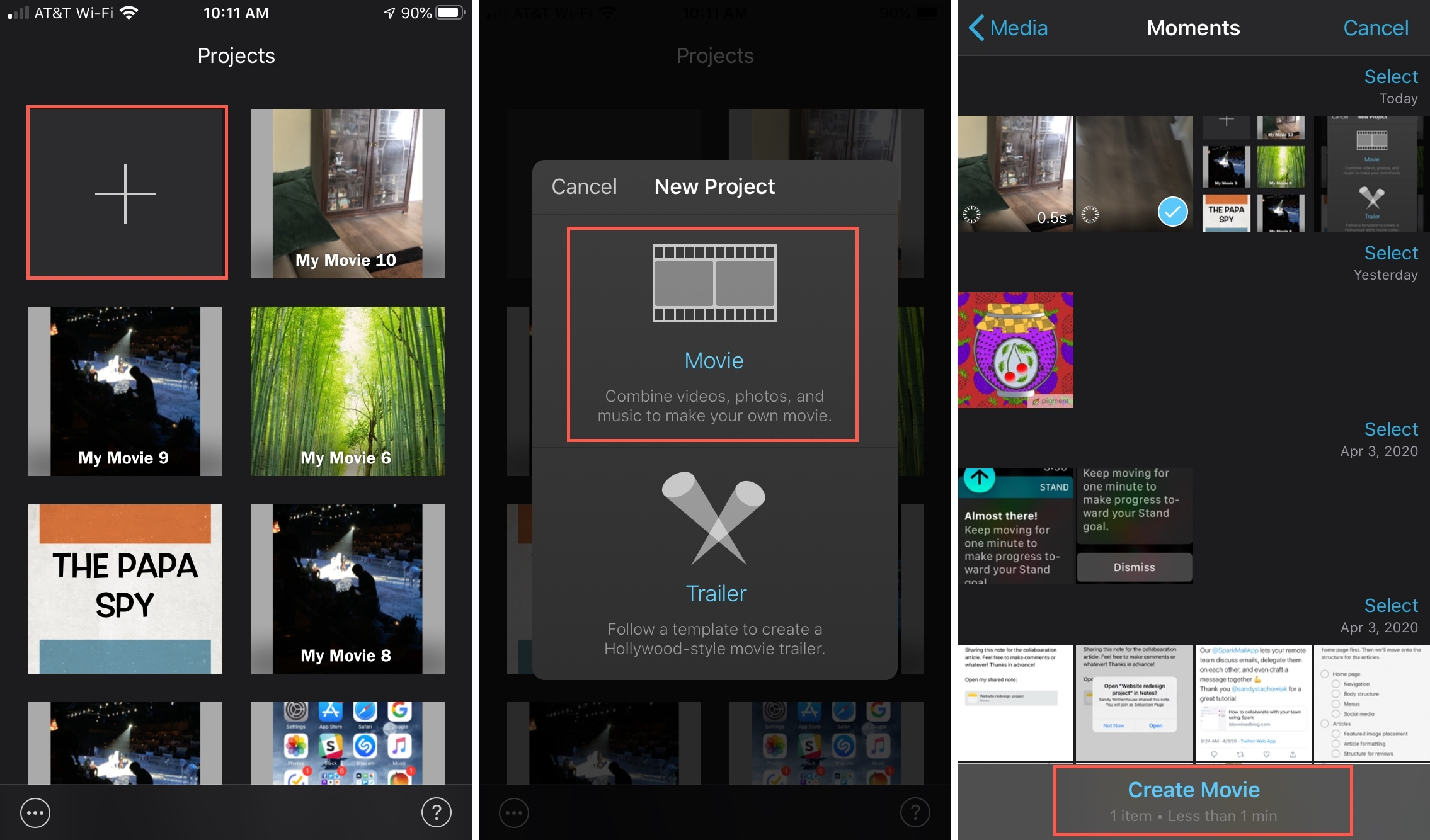 iMovie Create Movie Time Lapse Slow