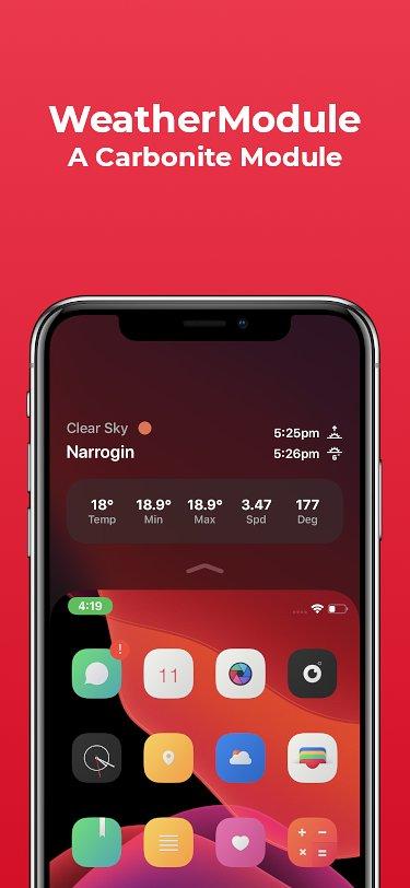 WeatherModule cung cấp chi tiết thời tiết cho giao diện Reachability 2