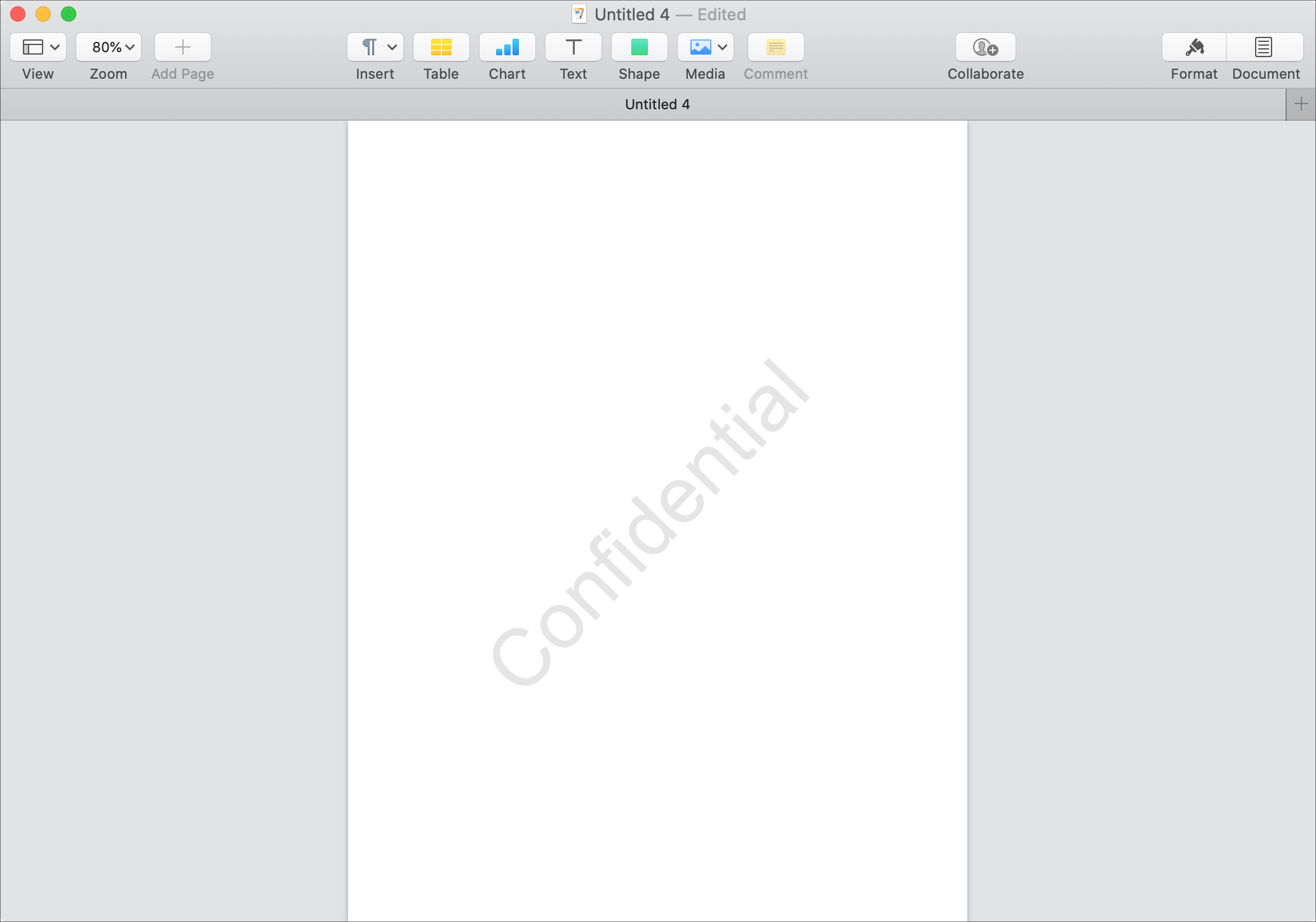 Add Watermark Pages Mac Confidential