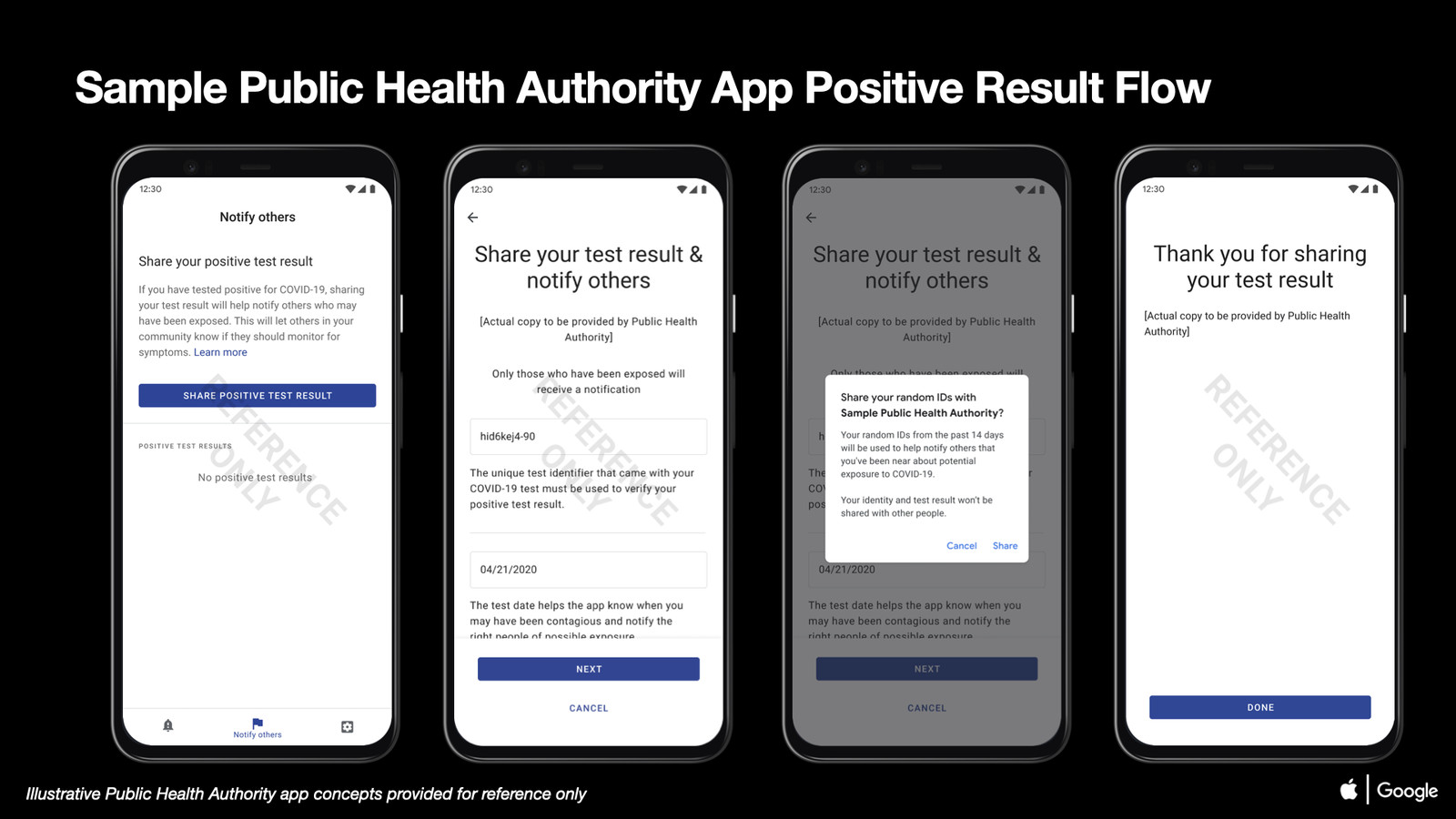 Sample public health authority app onboarding