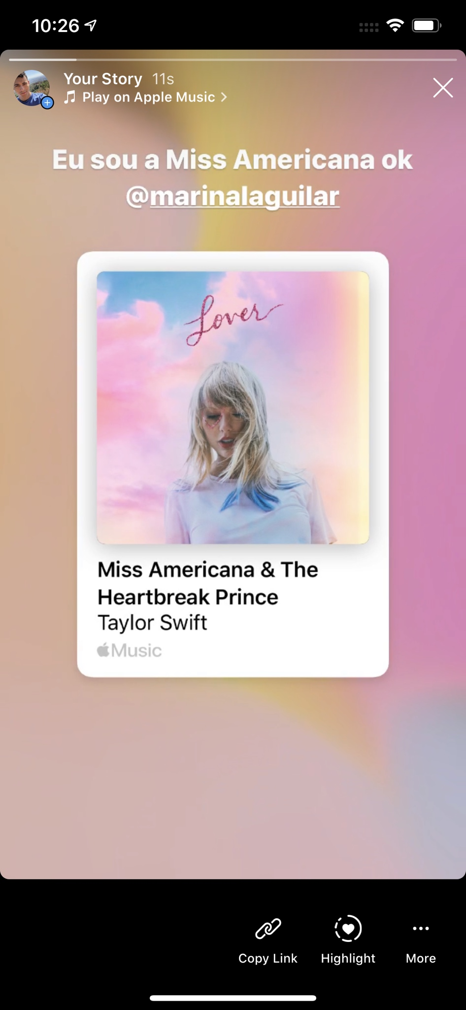 Share Apple Music songs Instagram Stories Facebook Stories