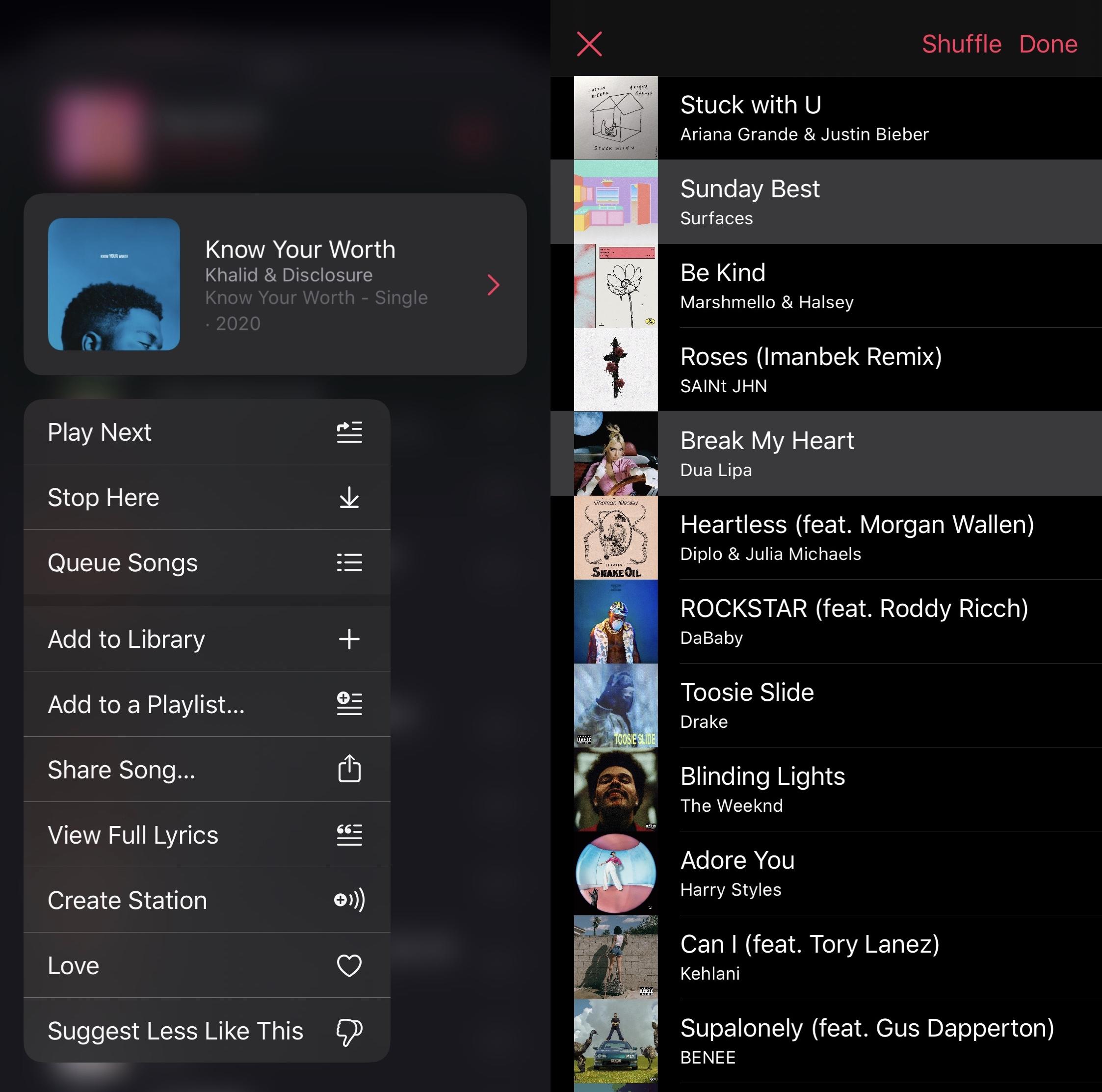 BetterQueuing avaa tehokkaat musiikkijono-ominaisuudet Apple musiikki
