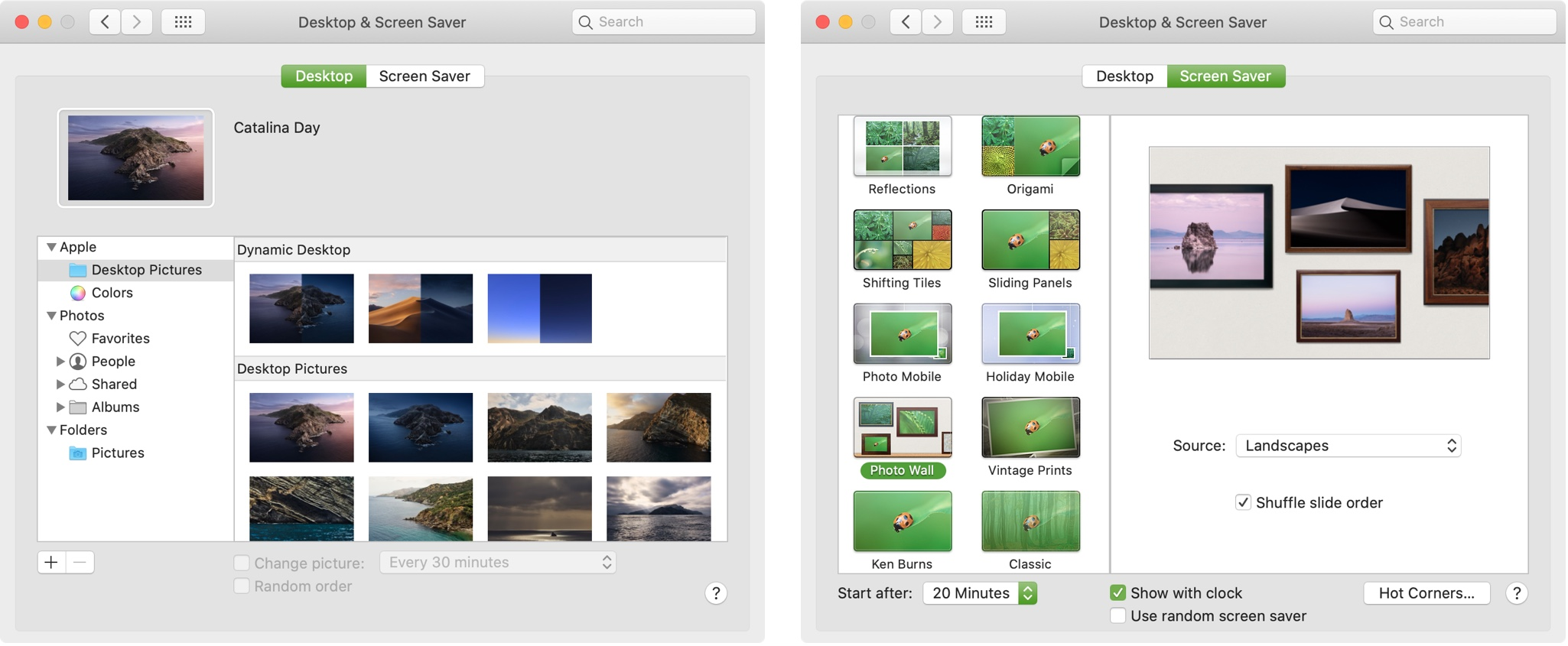 Change Desktop and Screen Saver Mac