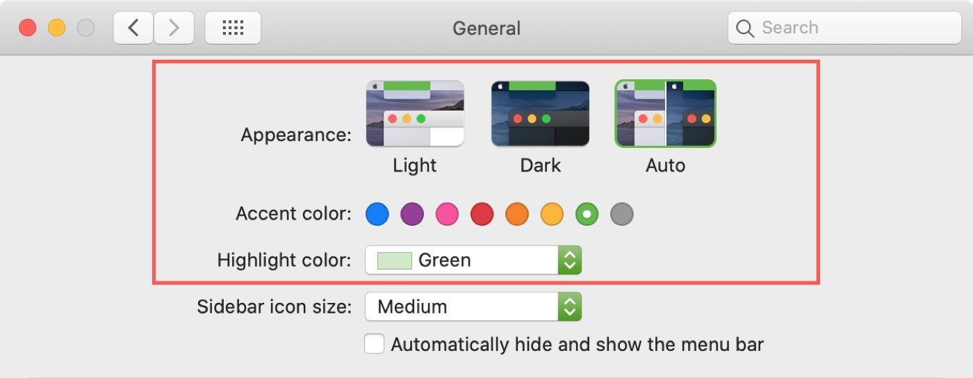 Choose Color Scheme Mac