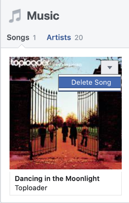 Delete Song on Facebook Profile Web