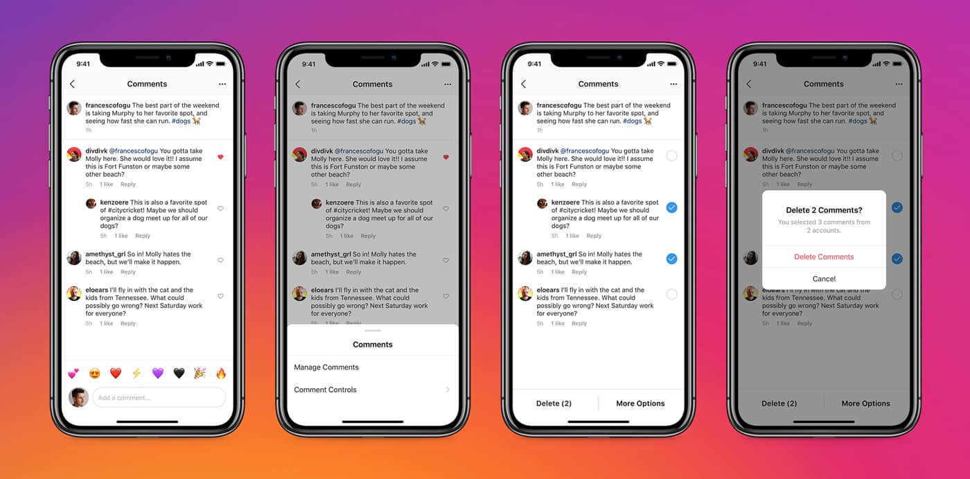 How to delete multiple Instagram comments in bulk on the iPhone app