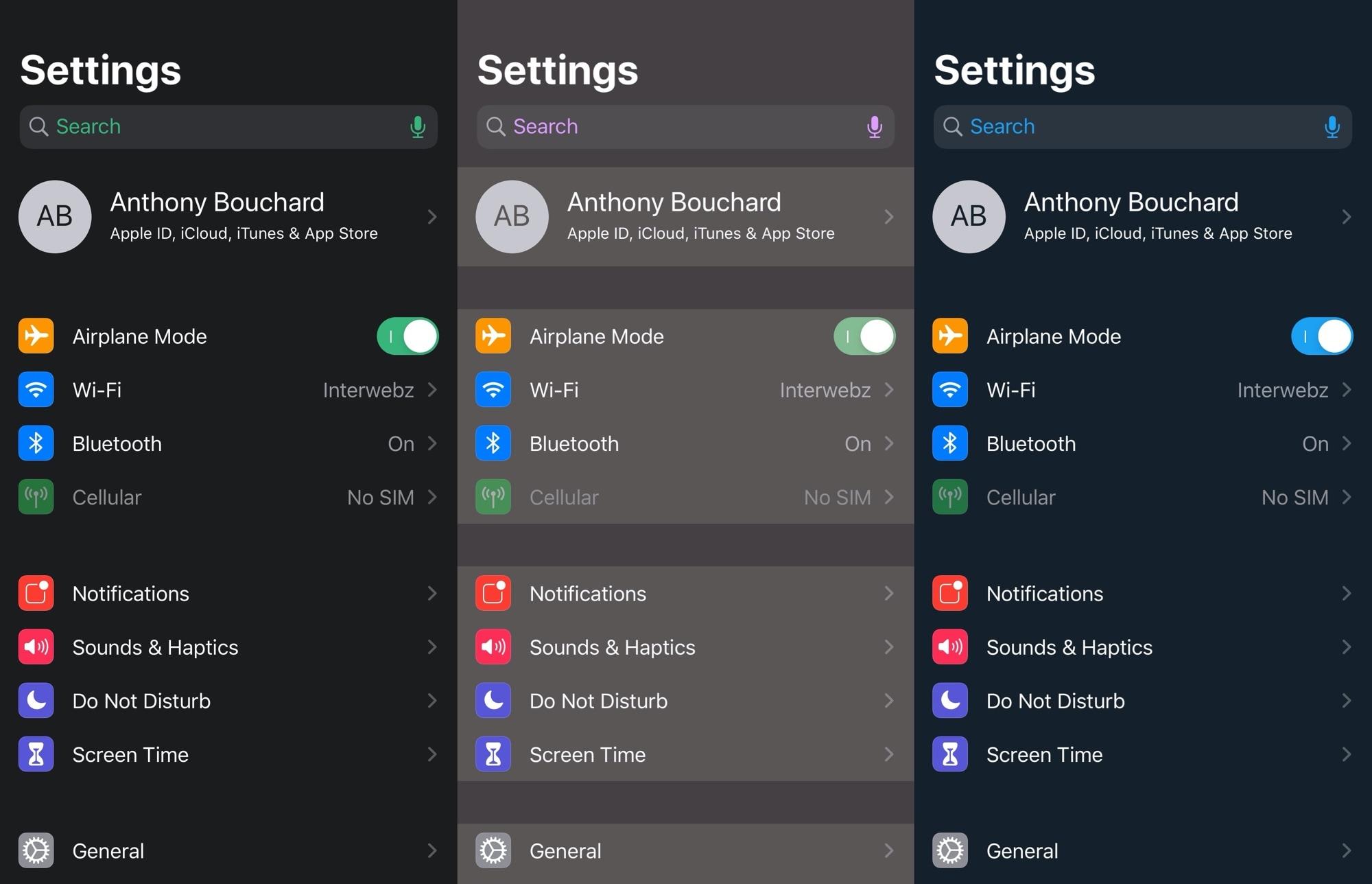 Kaleidoskooppi esittelee resurssitehokasta käyttöliittymän väritystä iOS 13: lle