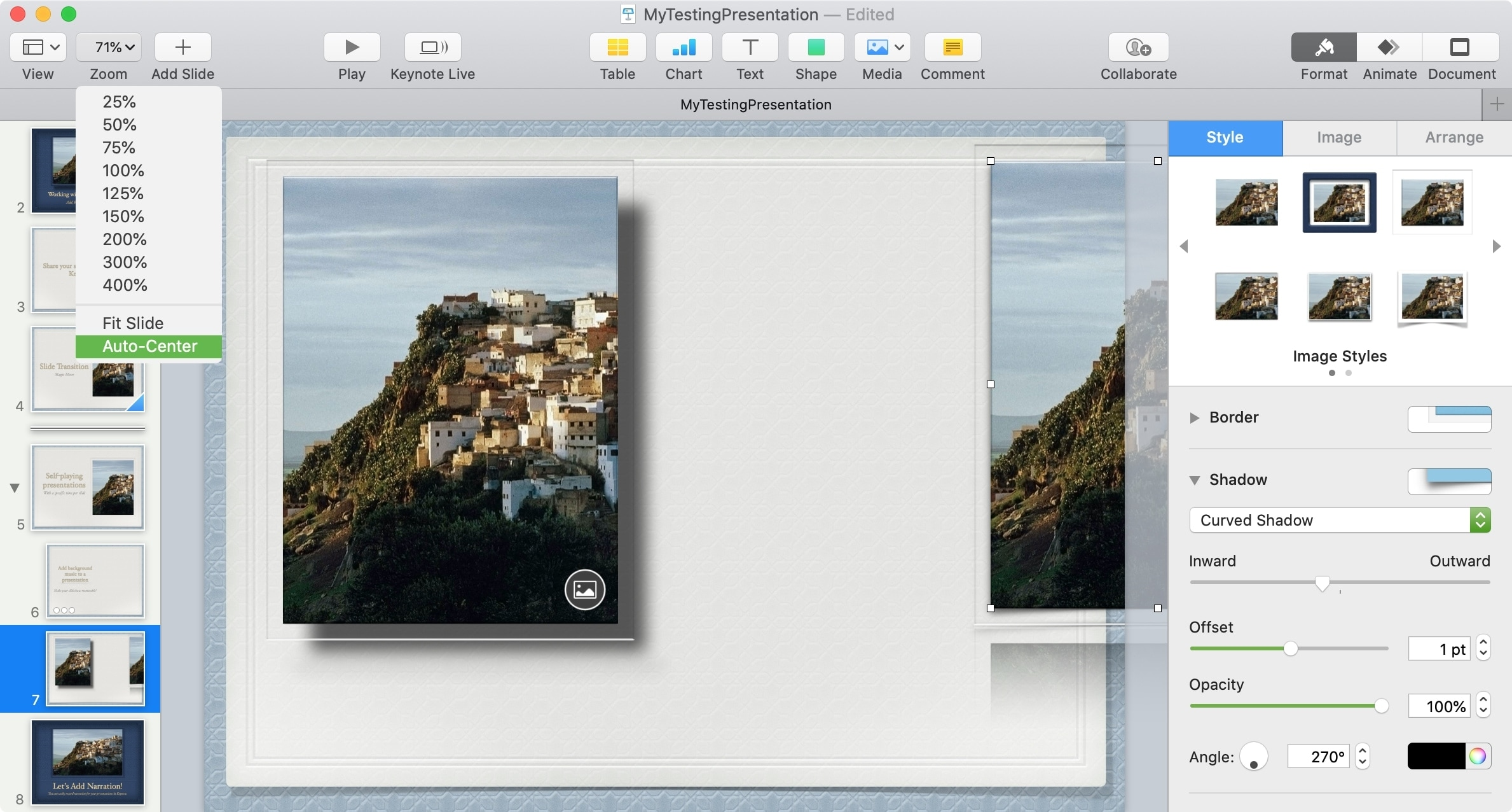 Keynote Expand Canvas Workspace Mac