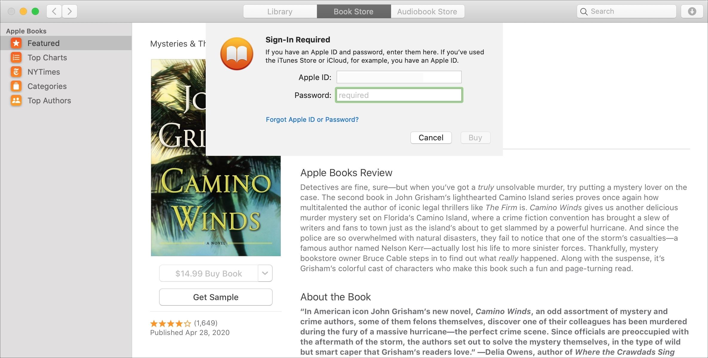 Mac Books Password Required