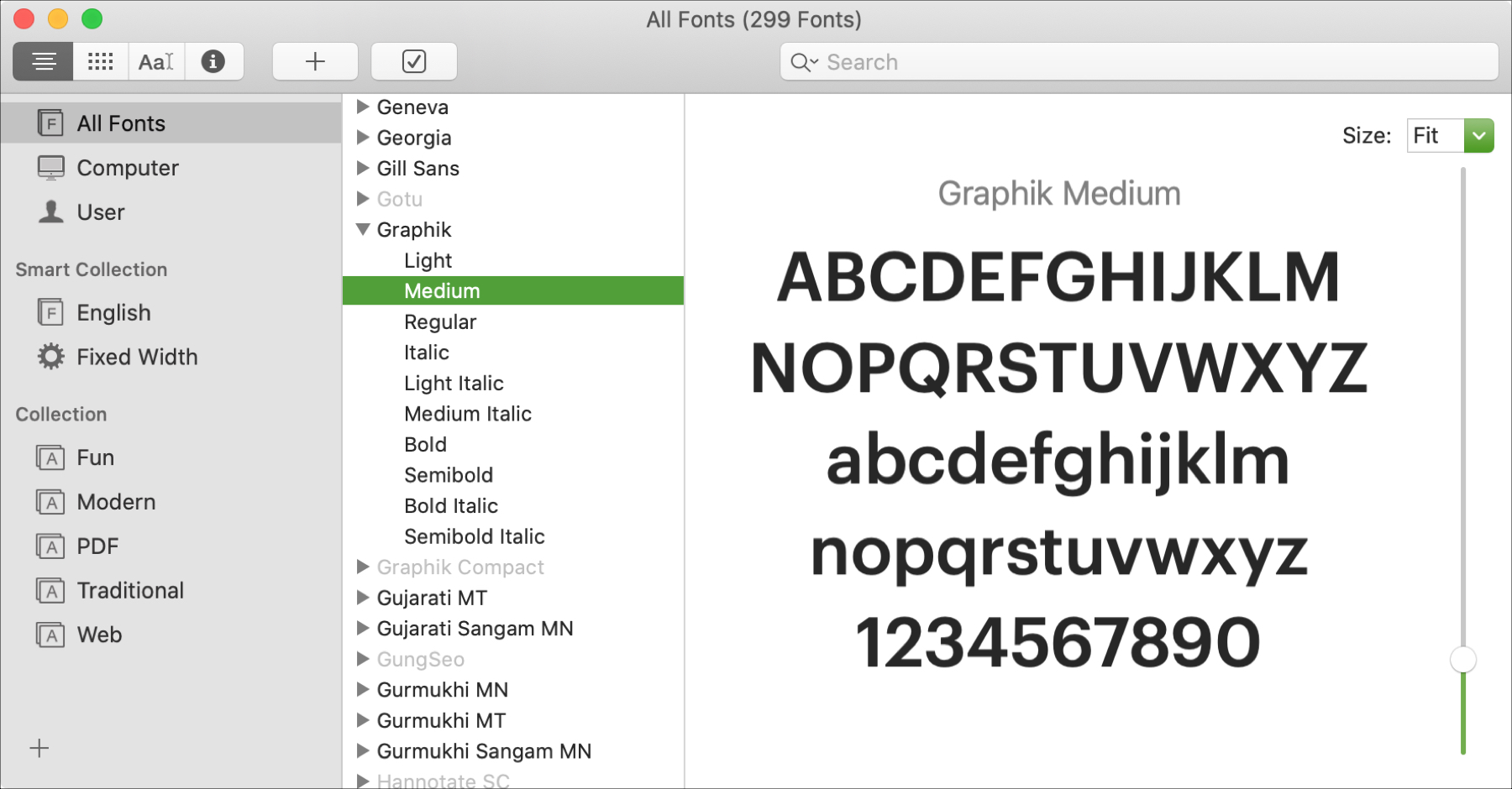 Mac Font Book All Fonts Graphik